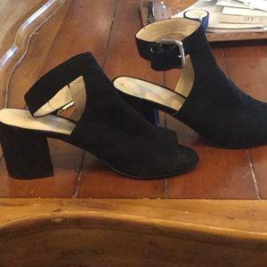 Nine West Womens Block heel suede shoes size 8